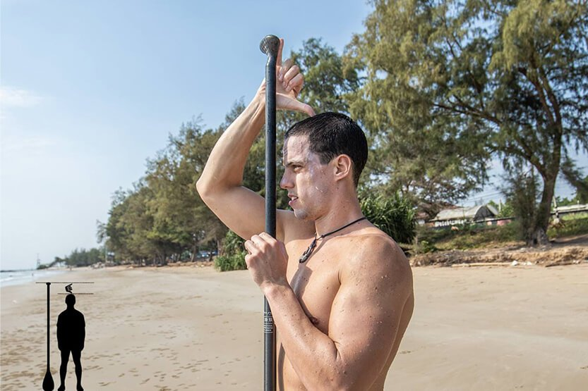 Lengte SUP paddle bepalen