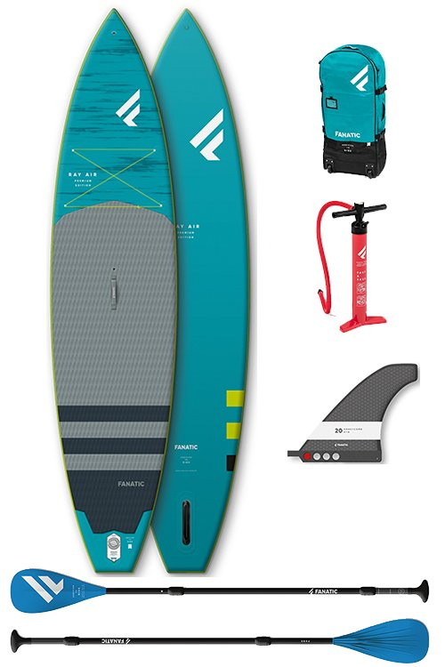 fanatic ray air premium 116 sup board pakket
