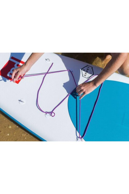red paddle bungee blauw
