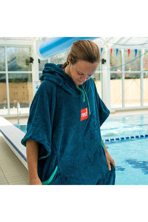 red paddle co poncho dames navy