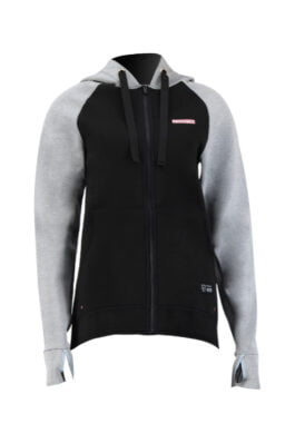 Prolimit Neopreen Zip Top Hooded 1,5mm Zodiac Grijs/Zwart